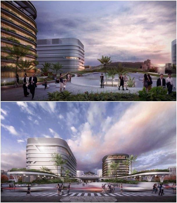 centro de transportes Kaohsiung - vista urbana