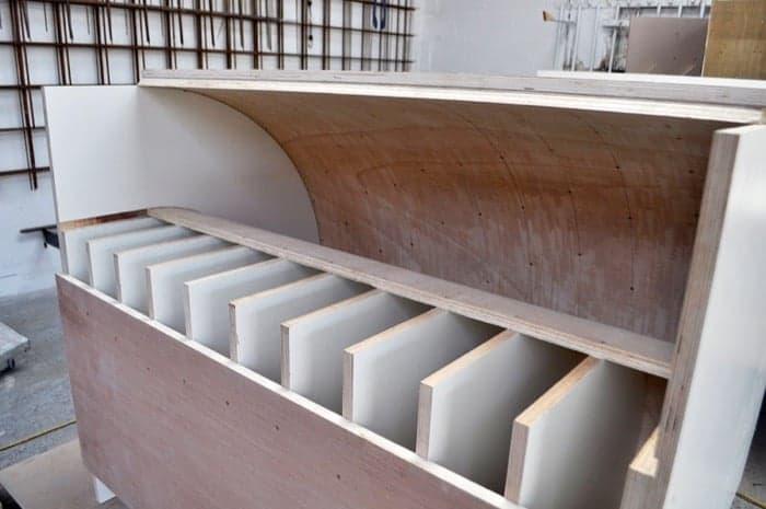 encofrado mueble hormigón The Curve