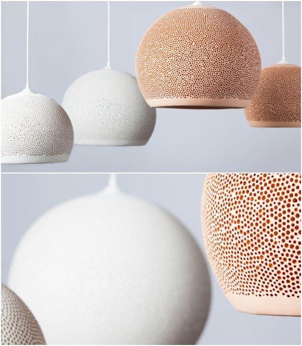 lámparas cerámicas colgantes SpongeUp
