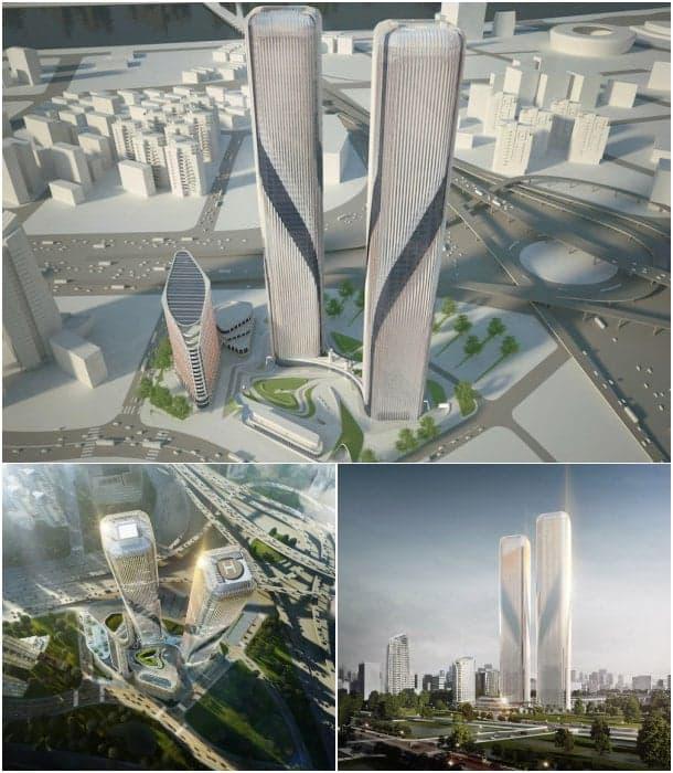 rascacielos puerta Hangzhou
