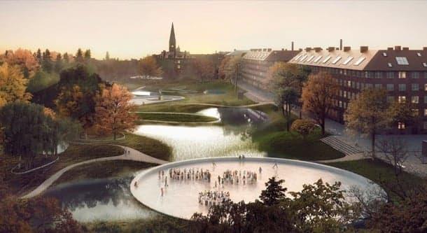 Remodelación urbana que tiene en cuenta el cambio climático