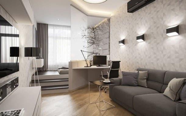 apartamento con cama elevada