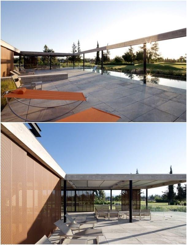 casa aislada de lujo con terraza y piscina