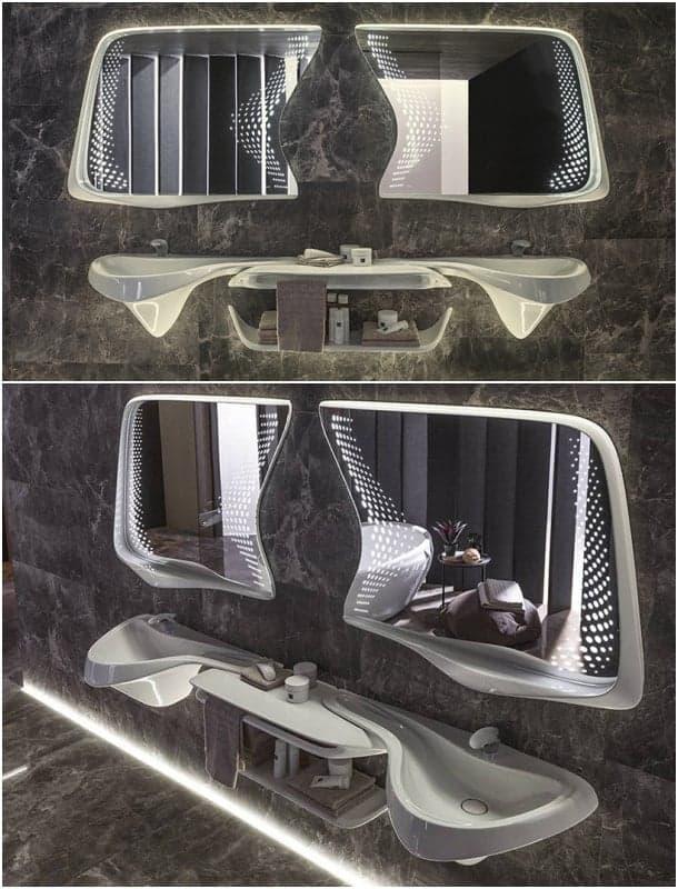 espejos forma gafas de buzo