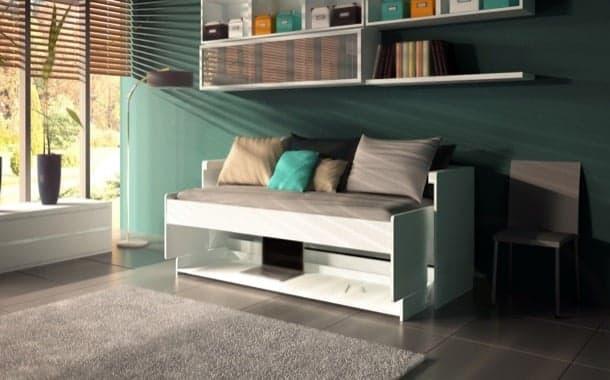 Cama escritorio RITZY También puede utilizarse como un sofá