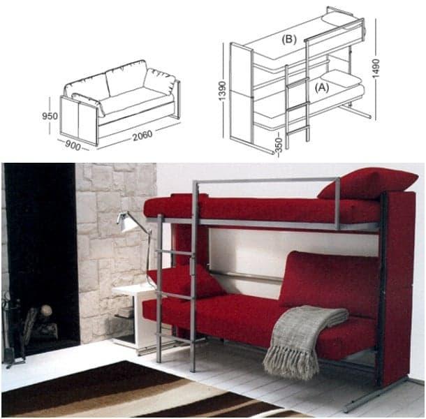 dimensiones sofá litera DOC