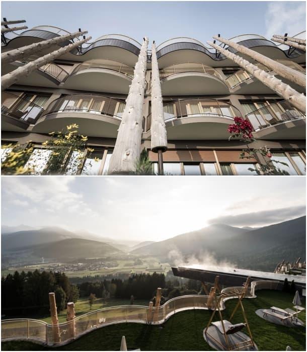 Piscina en voladizo para el hotel hubertus valdaora italia - Piscina hotel hubertus ...