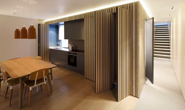 cocina oculta apartamento maida-vale