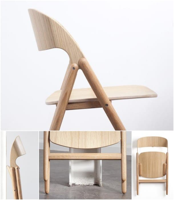 Silla plegable fabricada en madera dise o de david irwin for Sillas para universidad
