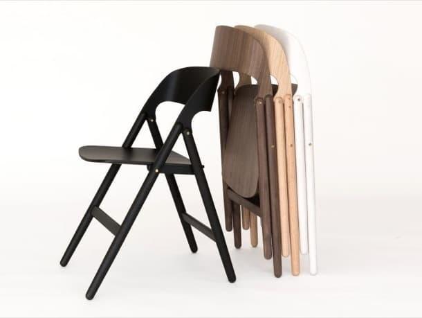 Silla plegable fabricada en madera dise o de david irwin for Sillas plegables diseno