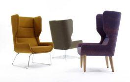Hush Chair: sillón orejero con diferentes tipos de patas