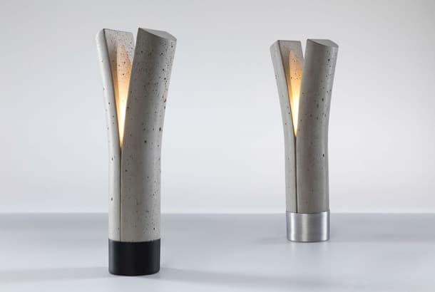 Lámpara de cemento diseñada por Dror Kaspi