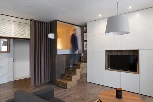 micro apartamento con muebles-a-medida alireza-nemati