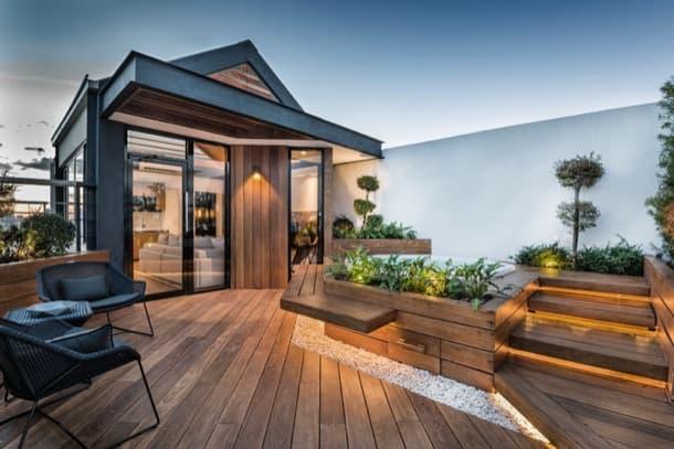 Lujoso refugio urbano en la azotea de una casa