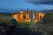 Gardur: casa camuflada en un paisaje de Islandia