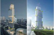 Tour des Jardins de l'Arche: torre con 3 hoteles para París