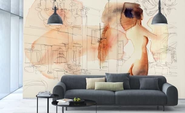 wallpepper papel pintado fine-art ejemplo de sala