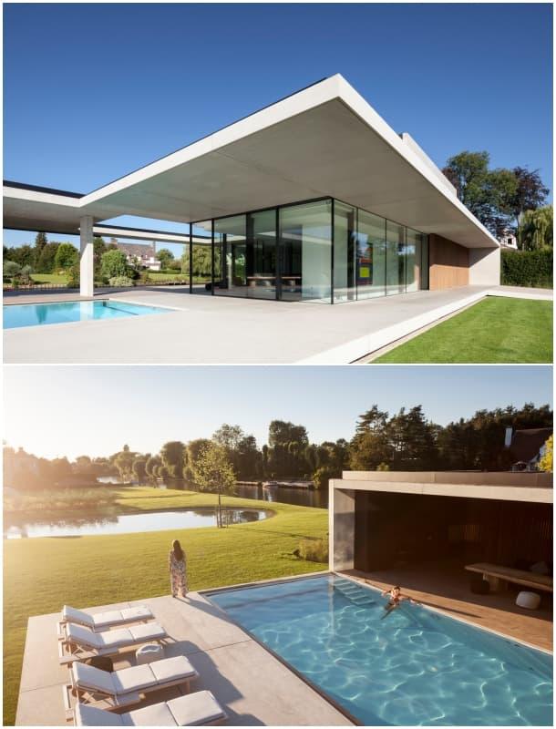 fachada-y-piscina-moderna-vivienda-govaert-vanhoutte