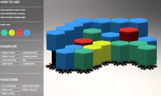 herramienta configuracion sofa futurista LiftBit