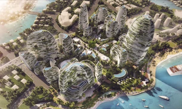 plan futurista para ciudad ideal en Malasia