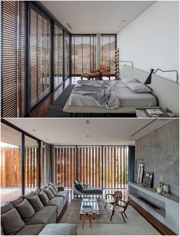 Casa Bravos dormitorio principal y sala