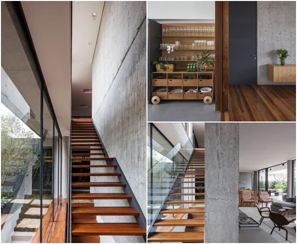 Casa Bravos escalera y puerta corredera cocina