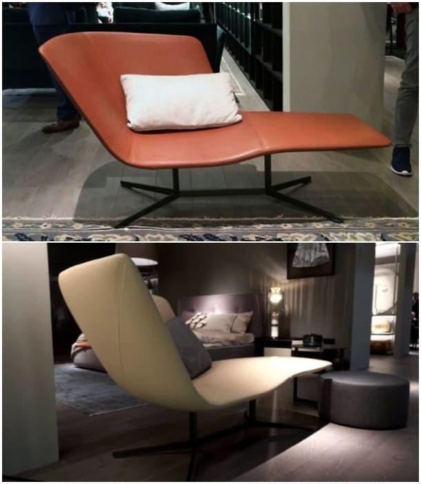 Eydo moderno diván de cuero - Francesco Rota