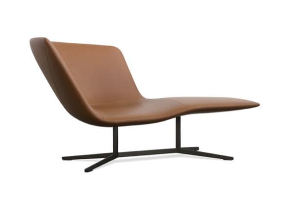 Moderno div n de cuero y bronce eydo dise o de for Mueble tipo divan