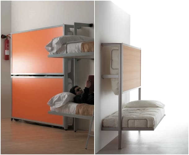 mueble litera abatible horizontal fabricado por sellex