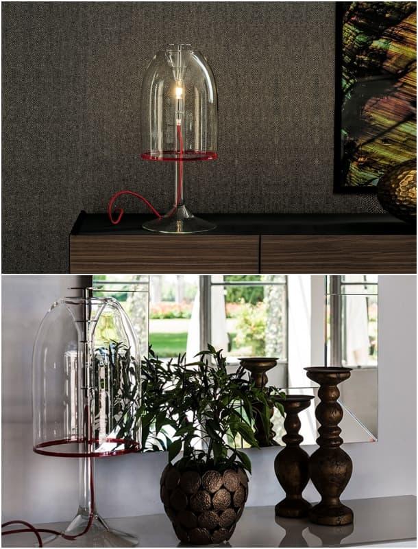 Medusa lámpara de mesa de vidrio transparente