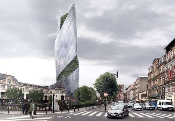 Occitanie Tower vista desde Boulevard de la Gare Toulouse