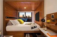 Cómo organizar un dormitorio pequeño, el ejemplo del Hotel Arlo
