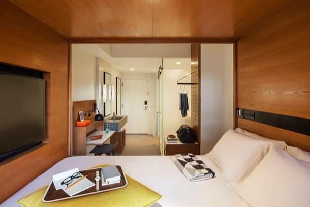 ideas para dormitorio pequeño hotel Arlo