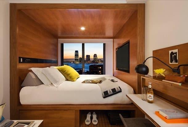 Cómo organizar un dormitorio pequeño, el ejemplo del Hotel Arlo ...