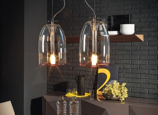 lámparas de vidrio borosilicatado Medusa