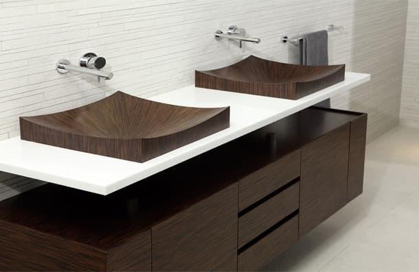 lavabo de chapa de madera Laguna Pure aLegna