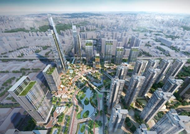 plan urbanístico longgang longteng woods-bagot