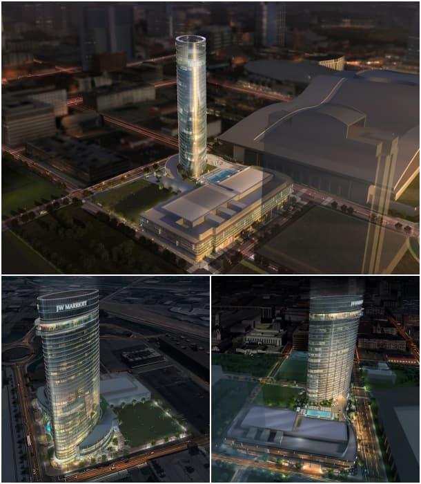 rascacielos hotel JW Marriott Nashville