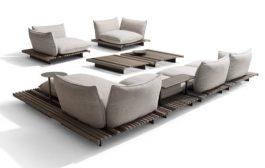 Apsara: sofa diseñado por Ludovica+Roberto Palomba