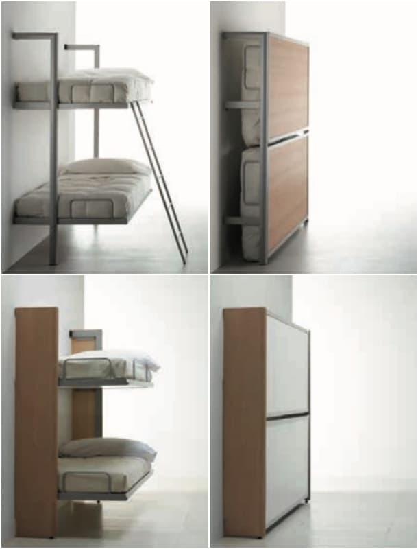Mueble litera abatible horizontal fabricado por sellex - Mueble litera abatible ...