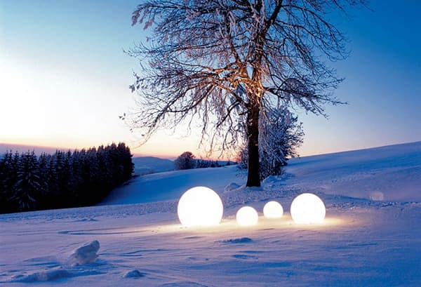 Moonlight luminaria esférica de exterior