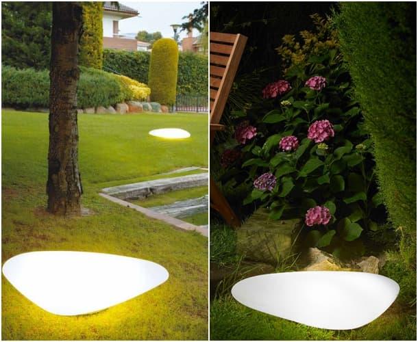 Stone luminaria orgánica para jardín Alma Light