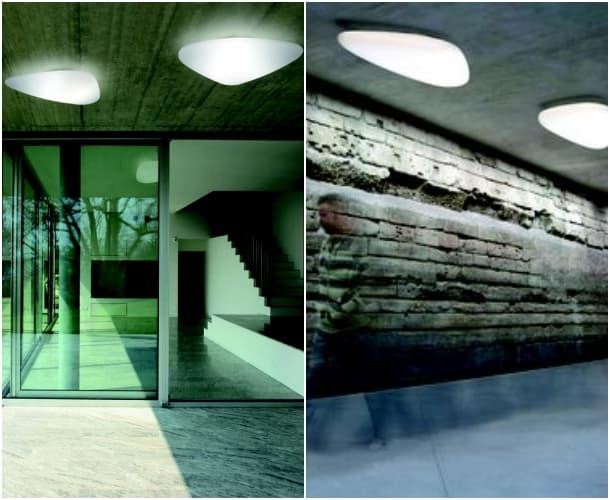 Stone luminaria orgánica para techo Alma Light