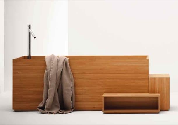bañera madera Colección Nendo