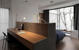 Cama con escritorio incorporado
