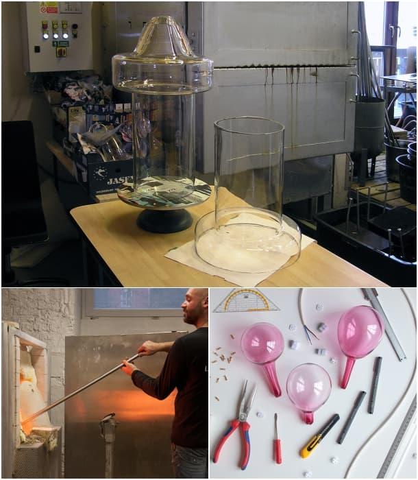 cómo se hace la lámpara HALO Quentin de Coster