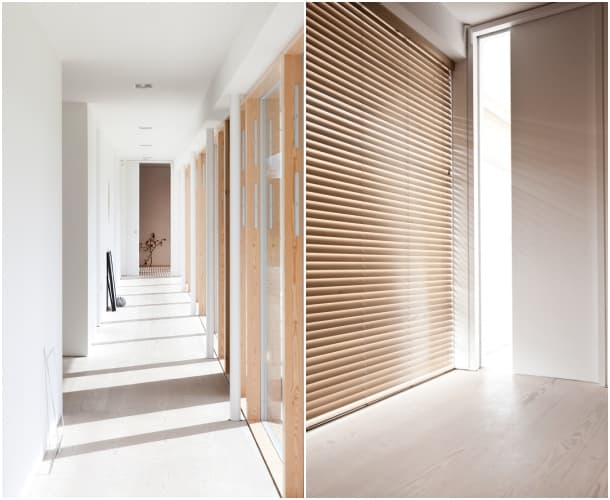 corredor casa lineal Norm Architects