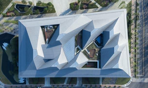 cubierta Centro de Exposiciones de Nankin