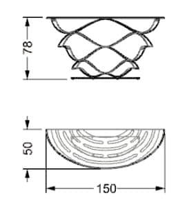 dimensiones Neolitico mesa consola de hierro forjado
