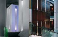 Dolma: columna de luz empotrada en la pared